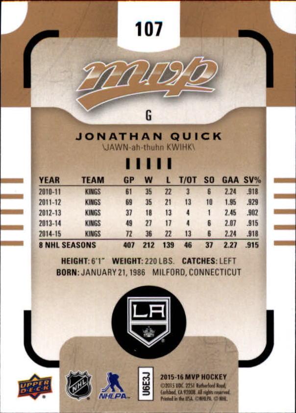 2015-16-Upper-Deck-MVP-Hockey-Card-Pick thumbnail 215