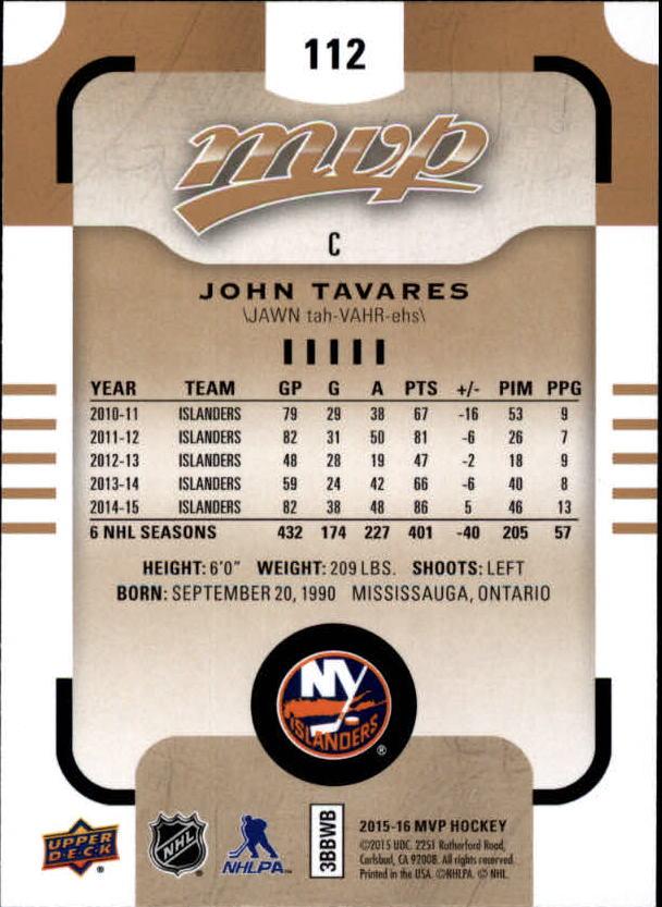 2015-16-Upper-Deck-MVP-Hockey-Card-Pick thumbnail 223