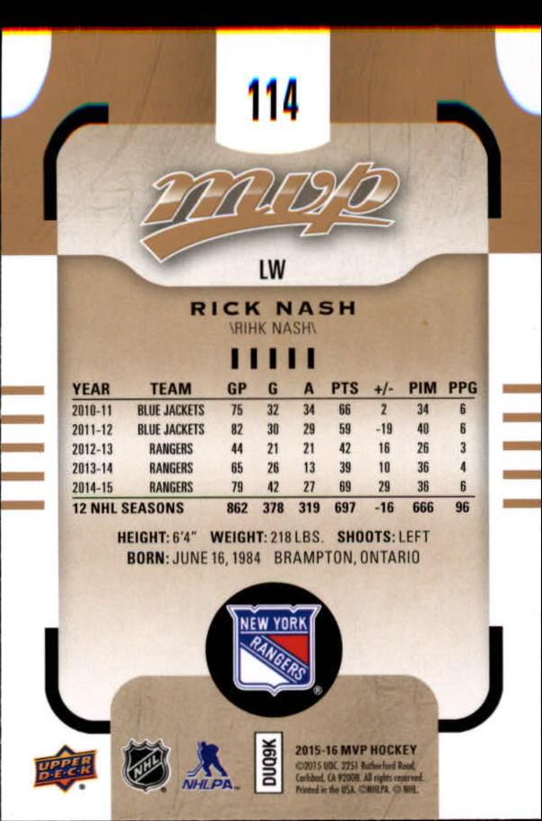 2015-16-Upper-Deck-MVP-Hockey-Card-Pick thumbnail 227