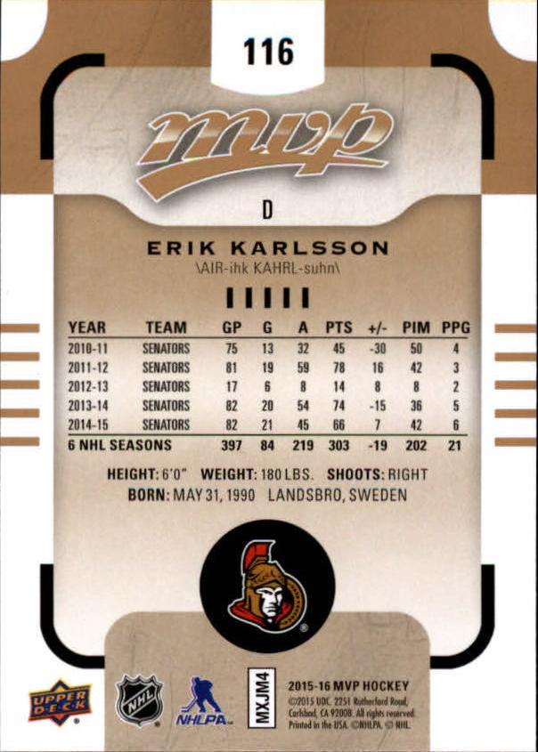 2015-16-Upper-Deck-MVP-Hockey-Card-Pick thumbnail 229