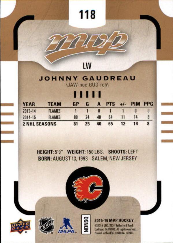 2015-16-Upper-Deck-MVP-Hockey-Card-Pick thumbnail 231
