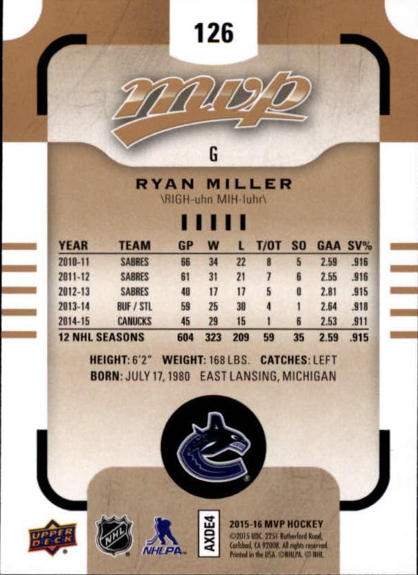 2015-16-Upper-Deck-MVP-Hockey-Card-Pick thumbnail 235