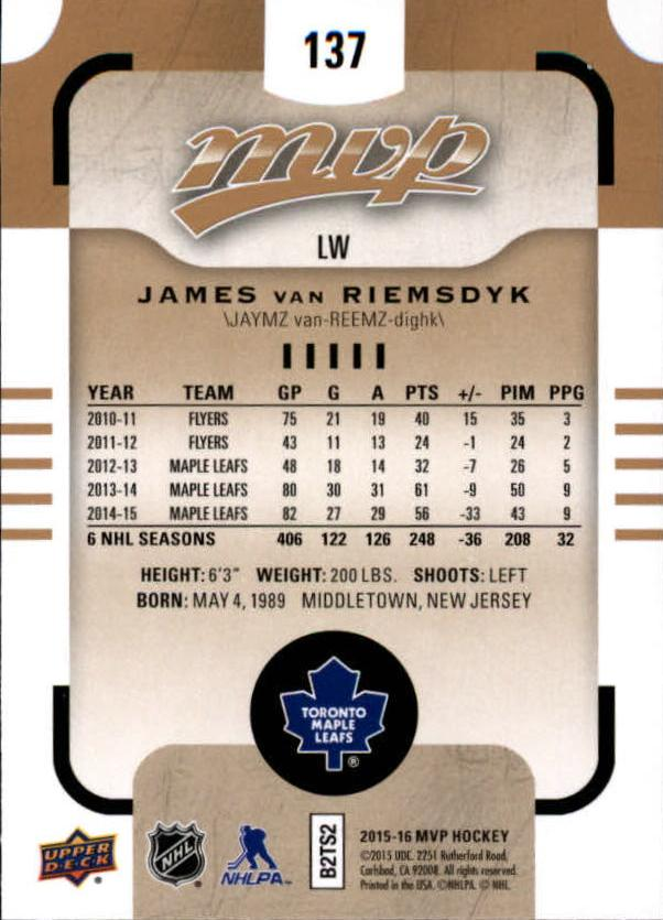 2015-16-Upper-Deck-MVP-Hockey-Card-Pick thumbnail 249
