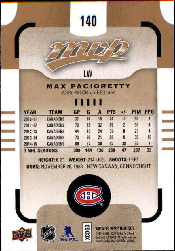 2015-16-Upper-Deck-MVP-Hockey-Card-Pick thumbnail 251