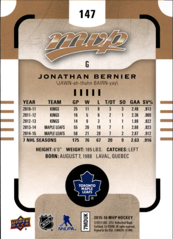2015-16-Upper-Deck-MVP-Hockey-Card-Pick thumbnail 257