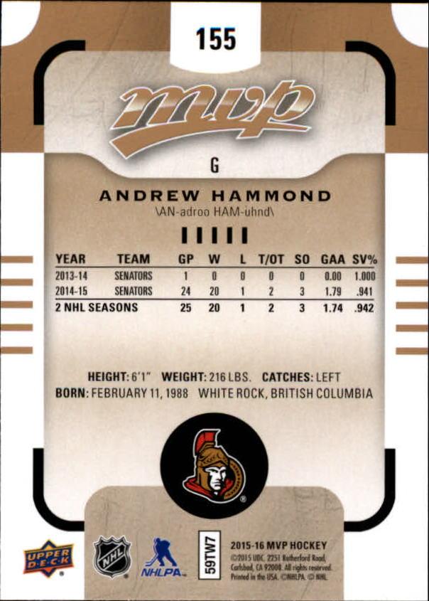 2015-16-Upper-Deck-MVP-Hockey-Card-Pick thumbnail 271