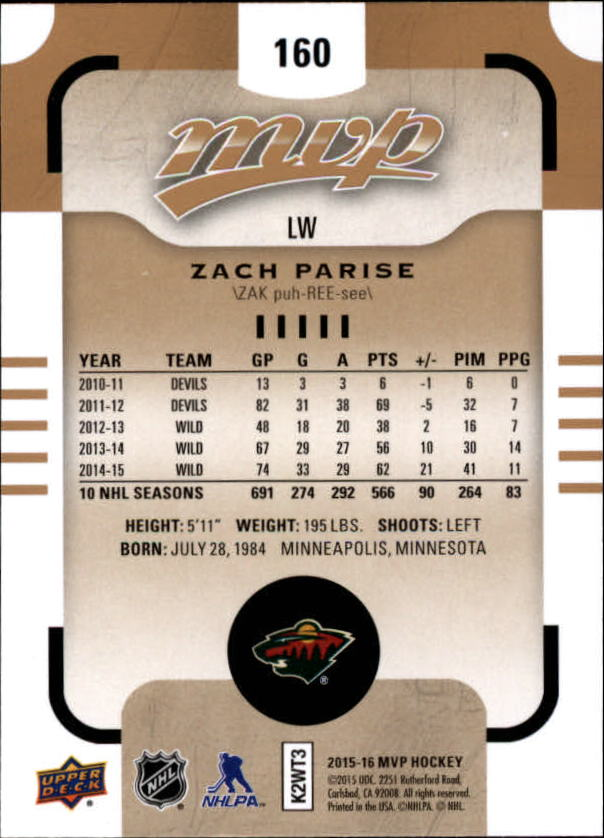 2015-16-Upper-Deck-MVP-Hockey-Card-Pick thumbnail 277