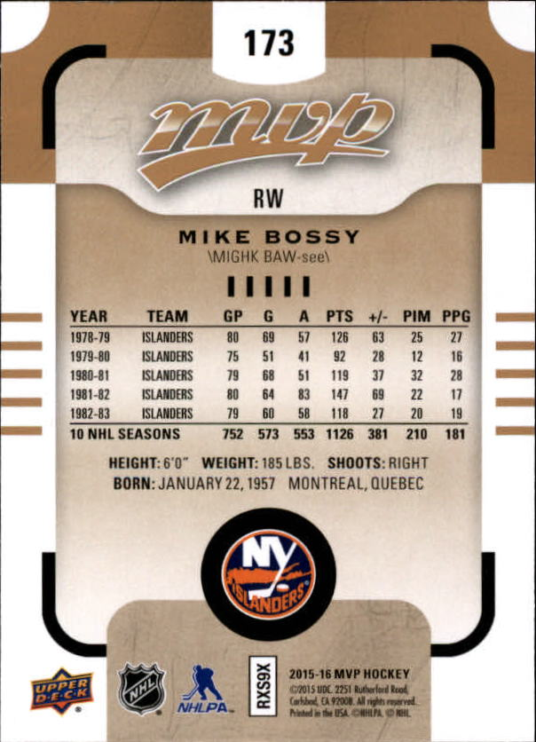 2015-16-Upper-Deck-MVP-Hockey-Card-Pick thumbnail 293
