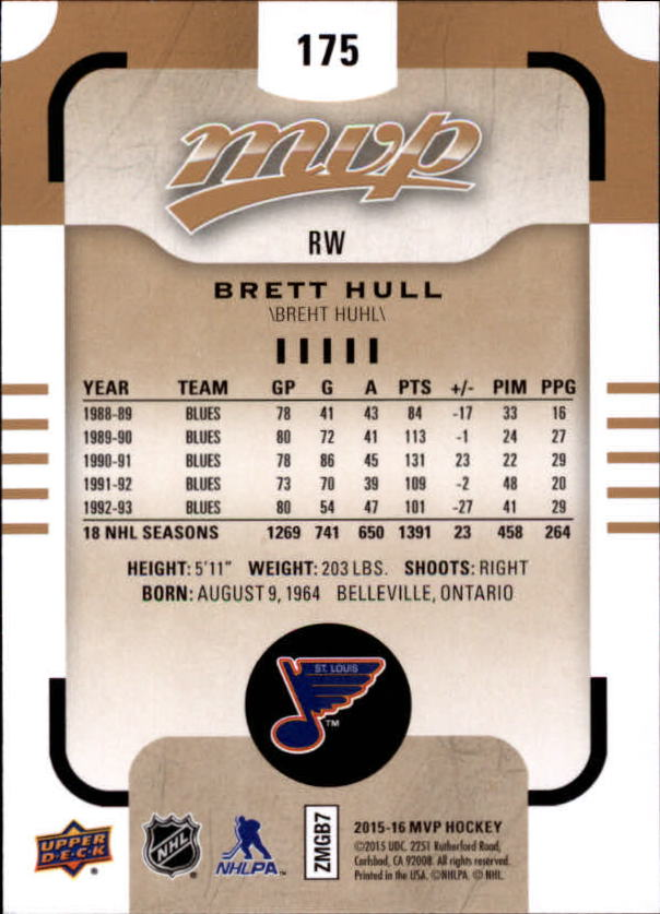 2015-16-Upper-Deck-MVP-Hockey-Card-Pick thumbnail 295