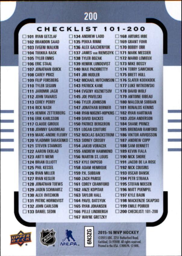 2015-16-Upper-Deck-MVP-Hockey-Card-Pick thumbnail 313