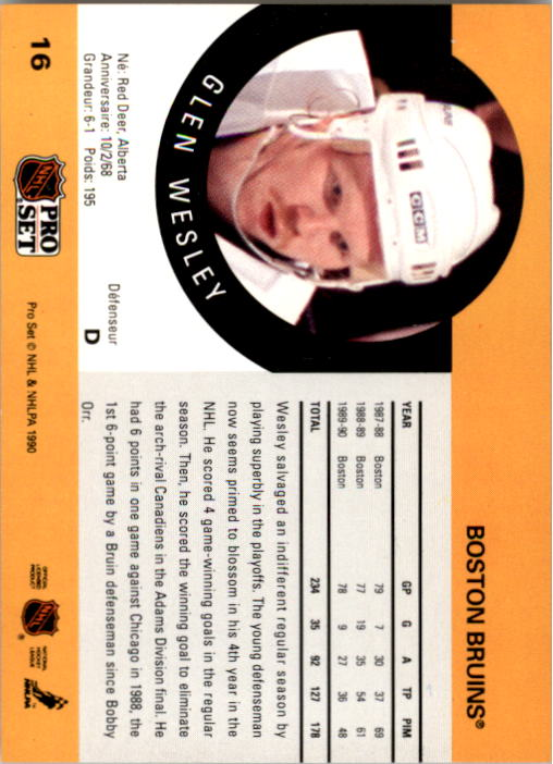 1990-91-Pro-Set-Hockey-Cards-1-222-Rookies-You-Pick-Buy-10-cards-FREE-SHIP thumbnail 33