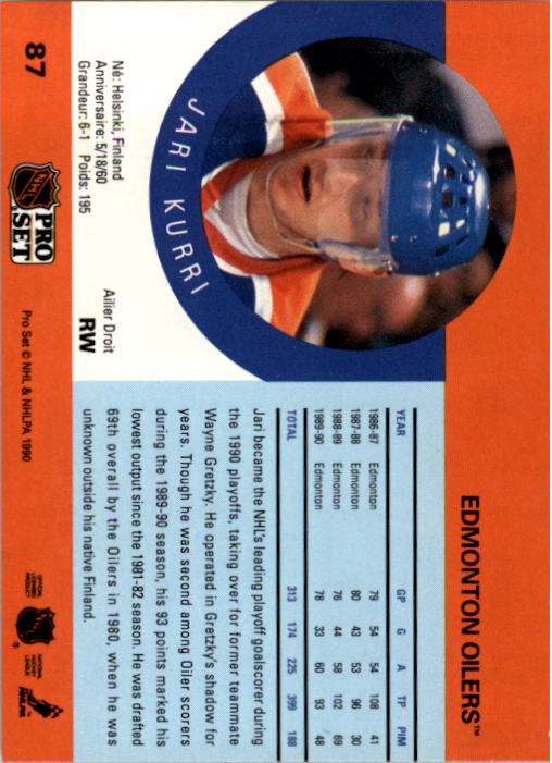 1990-91-Pro-Set-Hockey-Cards-1-222-Rookies-You-Pick-Buy-10-cards-FREE-SHIP thumbnail 173