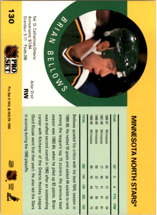 1990-91-Pro-Set-Hockey-Cards-1-222-Rookies-You-Pick-Buy-10-cards-FREE-SHIP thumbnail 259