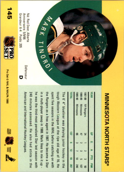 1990-91-Pro-Set-Hockey-Cards-1-222-Rookies-You-Pick-Buy-10-cards-FREE-SHIP thumbnail 289
