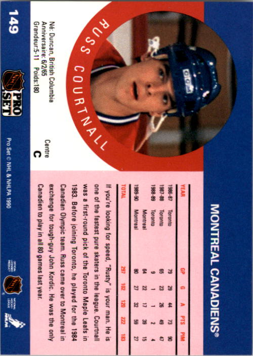 1990-91-Pro-Set-Hockey-Cards-1-222-Rookies-You-Pick-Buy-10-cards-FREE-SHIP thumbnail 297