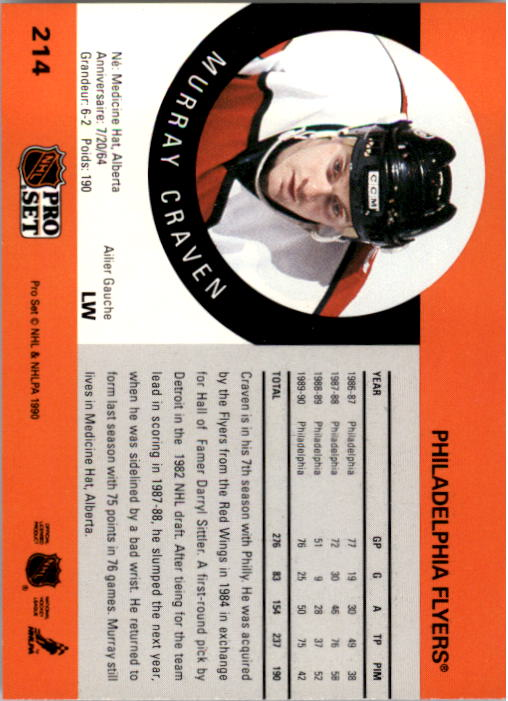 1990-91-Pro-Set-Hockey-Cards-1-222-Rookies-You-Pick-Buy-10-cards-FREE-SHIP thumbnail 427