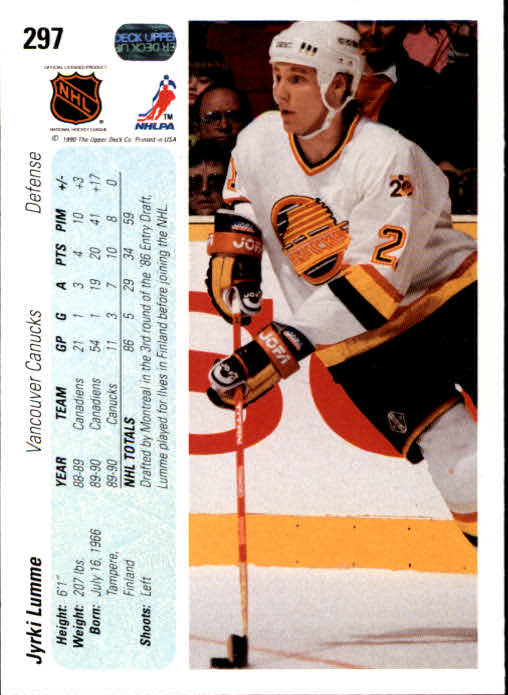 1990-91-Upper-Deck-Hockey-201-400-Rookies-You-Pick-Buy-10-cards-FREE-SHIP thumbnail 193