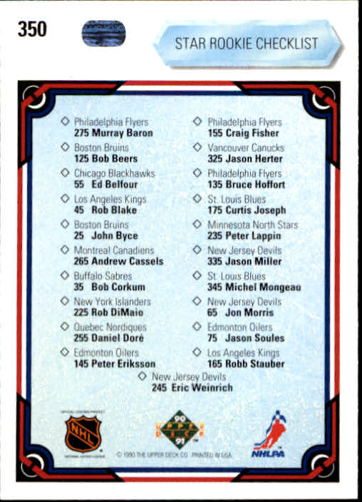 1990-91-Upper-Deck-Hockey-201-400-Rookies-You-Pick-Buy-10-cards-FREE-SHIP thumbnail 297