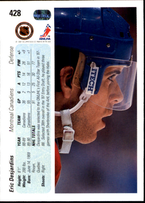 1990-91-Upper-Deck-Hockey-401-550-Rookies-You-Pick-Buy-10-cards-FREE-SHIP thumbnail 57
