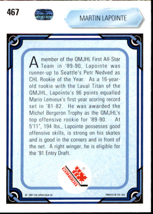1990-91-Upper-Deck-Hockey-401-550-Rookies-You-Pick-Buy-10-cards-FREE-SHIP thumbnail 135