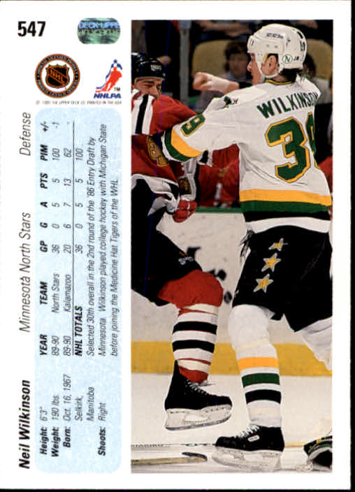 1990-91-Upper-Deck-Hockey-401-550-Rookies-You-Pick-Buy-10-cards-FREE-SHIP thumbnail 295
