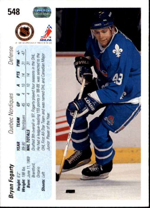 1990-91-Upper-Deck-Hockey-401-550-Rookies-You-Pick-Buy-10-cards-FREE-SHIP thumbnail 297