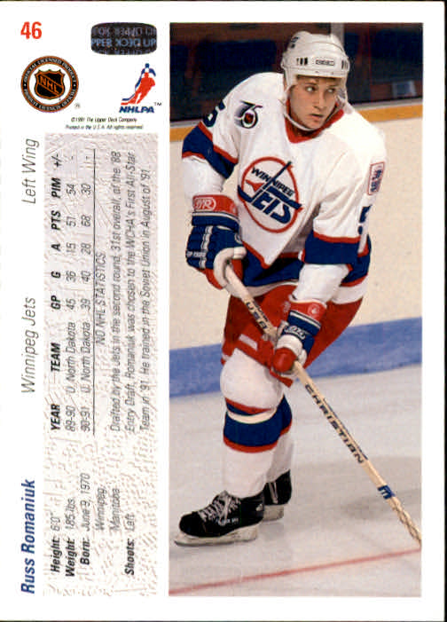 1991-92-Upper-Deck-Hockey-s-1-250-Rookies-You-Pick-Buy-10-cards-FREE-SHIP thumbnail 93