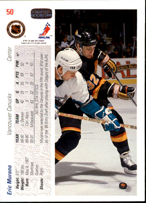 1991-92-Upper-Deck-Hockey-s-1-250-Rookies-You-Pick-Buy-10-cards-FREE-SHIP thumbnail 101