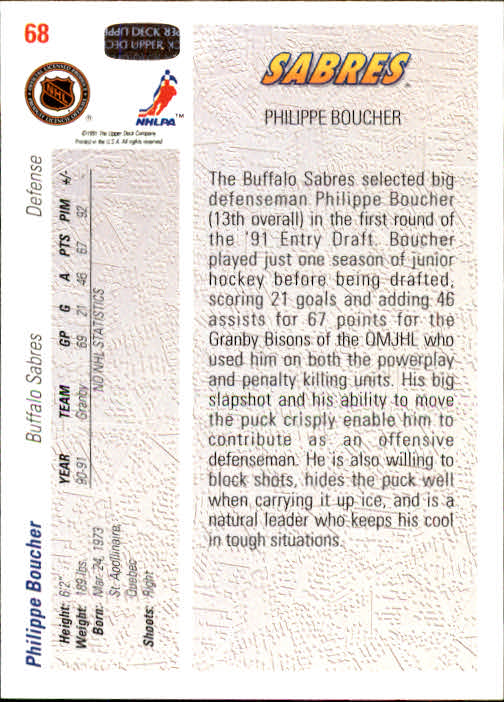 1991-92-Upper-Deck-Hockey-s-1-250-Rookies-You-Pick-Buy-10-cards-FREE-SHIP thumbnail 136