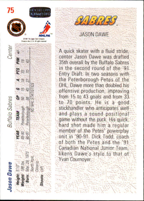 1991-92-Upper-Deck-Hockey-s-1-250-Rookies-You-Pick-Buy-10-cards-FREE-SHIP thumbnail 150