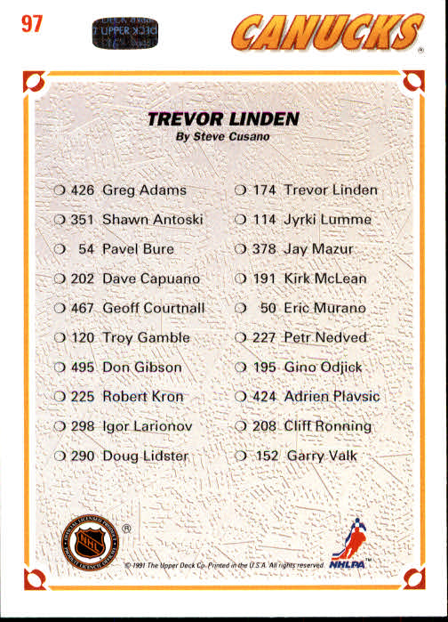 1991-92-Upper-Deck-Hockey-s-1-250-Rookies-You-Pick-Buy-10-cards-FREE-SHIP thumbnail 194