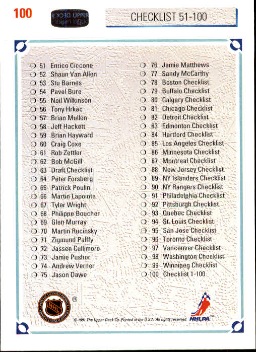 1991-92-Upper-Deck-Hockey-s-1-250-Rookies-You-Pick-Buy-10-cards-FREE-SHIP thumbnail 200