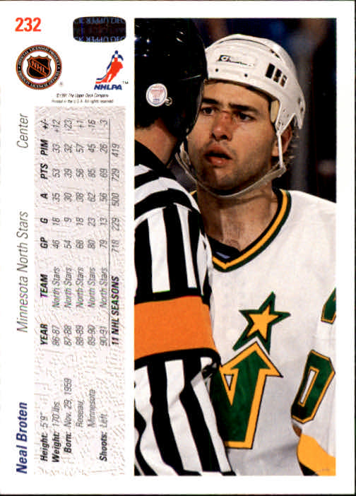 1991-92-Upper-Deck-Hockey-s-1-250-Rookies-You-Pick-Buy-10-cards-FREE-SHIP thumbnail 464