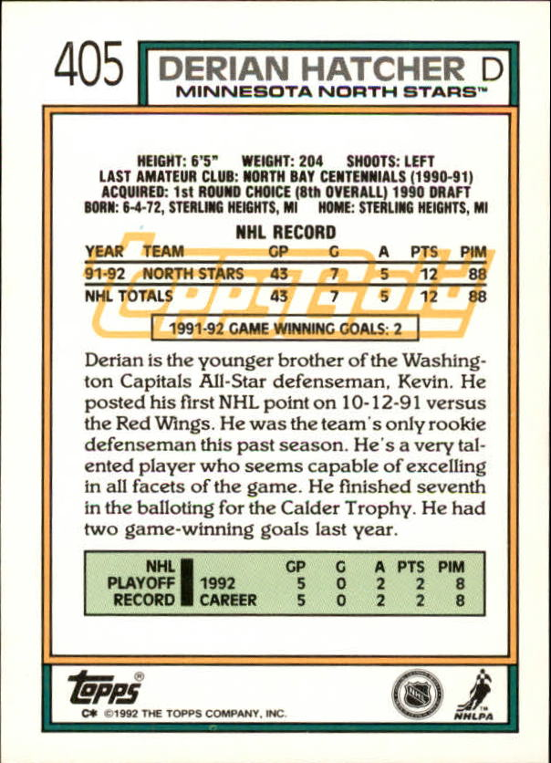 1992-93-Topps-Gold-Inserts-Hockey-s-401-529-A3554-You-Pick-10-FREE-SHIP miniature 9