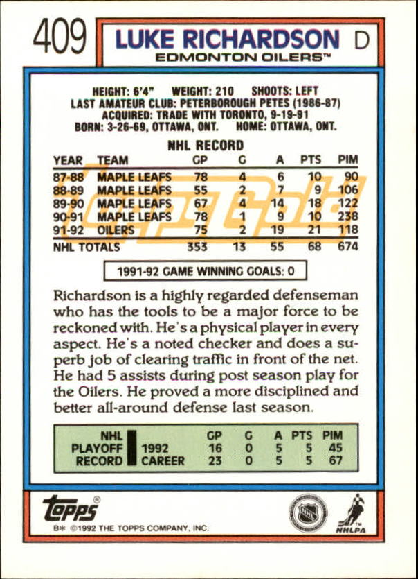 1992-93-Topps-Gold-Inserts-Hockey-s-401-529-A3554-You-Pick-10-FREE-SHIP miniature 15
