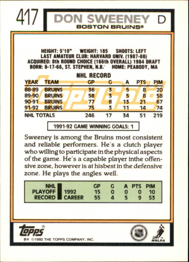 1992-93-Topps-Gold-Inserts-Hockey-s-401-529-A3554-You-Pick-10-FREE-SHIP miniature 27