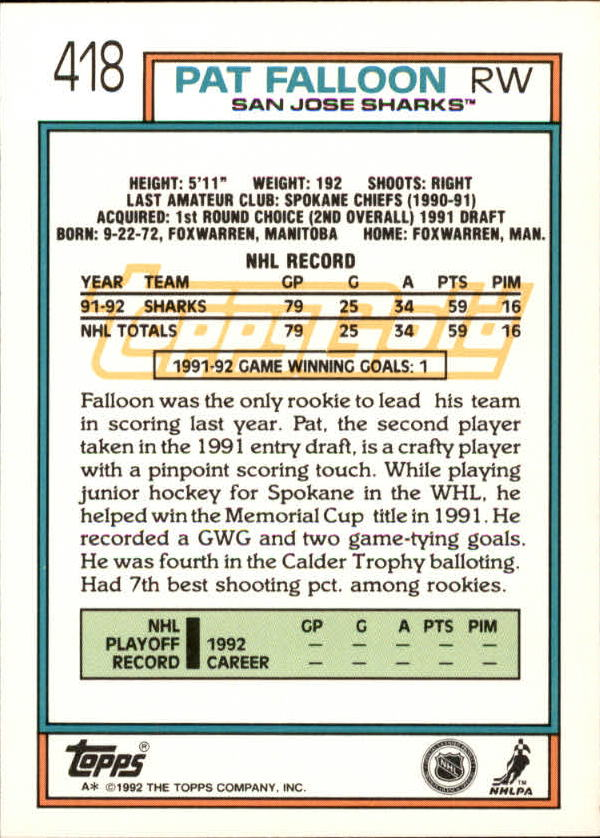 1992-93-Topps-Gold-Inserts-Hockey-s-401-529-A3554-You-Pick-10-FREE-SHIP miniature 29