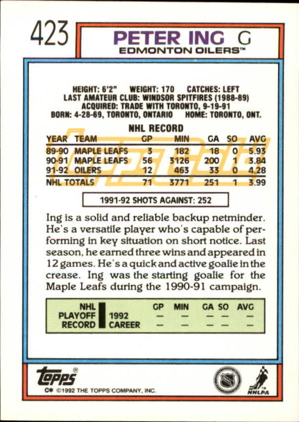 1992-93-Topps-Gold-Inserts-Hockey-s-401-529-A3554-You-Pick-10-FREE-SHIP miniature 33