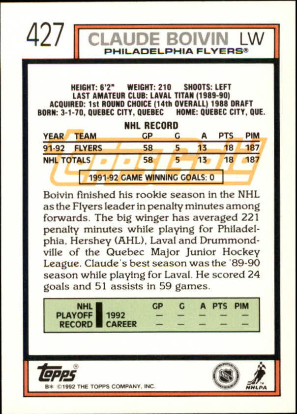 1992-93-Topps-Gold-Inserts-Hockey-s-401-529-A3554-You-Pick-10-FREE-SHIP miniature 39