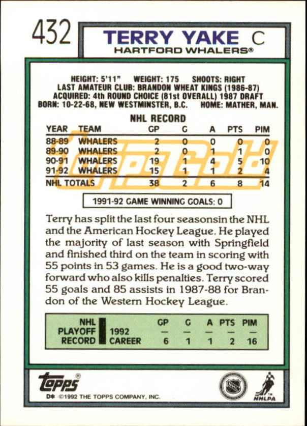 1992-93-Topps-Gold-Inserts-Hockey-s-401-529-A3554-You-Pick-10-FREE-SHIP miniature 47