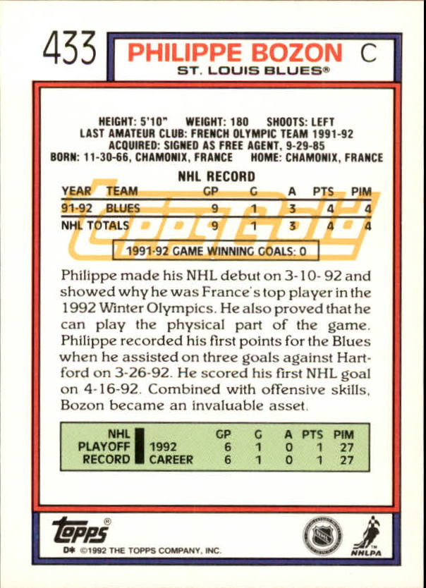 1992-93-Topps-Gold-Inserts-Hockey-s-401-529-A3554-You-Pick-10-FREE-SHIP miniature 49