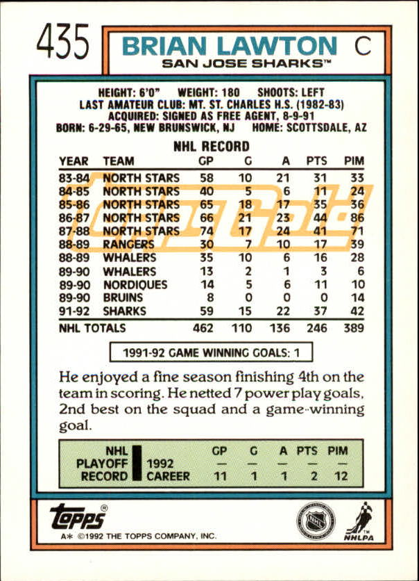 1992-93-Topps-Gold-Inserts-Hockey-s-401-529-A3554-You-Pick-10-FREE-SHIP miniature 53