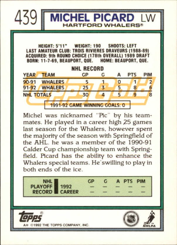 1992-93-Topps-Gold-Inserts-Hockey-s-401-529-A3554-You-Pick-10-FREE-SHIP miniature 57