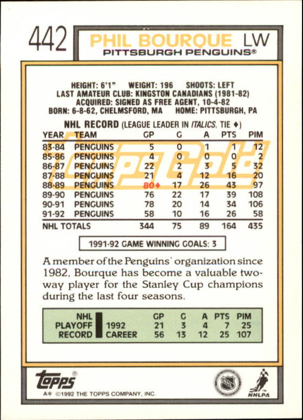 1992-93-Topps-Gold-Inserts-Hockey-s-401-529-A3554-You-Pick-10-FREE-SHIP miniature 61
