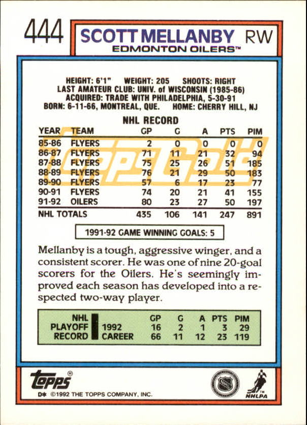 1992-93-Topps-Gold-Inserts-Hockey-s-401-529-A3554-You-Pick-10-FREE-SHIP miniature 63