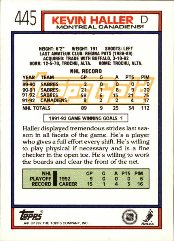 1992-93-Topps-Gold-Inserts-Hockey-s-401-529-A3554-You-Pick-10-FREE-SHIP miniature 65