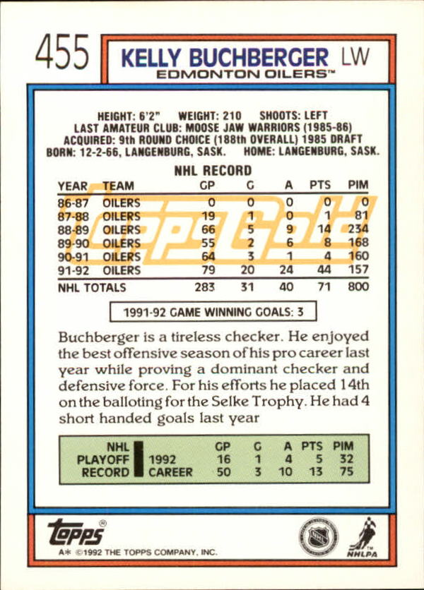 1992-93-Topps-Gold-Inserts-Hockey-s-401-529-A3554-You-Pick-10-FREE-SHIP miniature 77