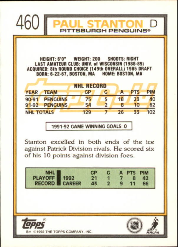 1992-93-Topps-Gold-Inserts-Hockey-s-401-529-A3554-You-Pick-10-FREE-SHIP miniature 85