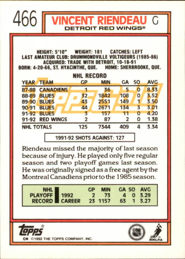 1992-93-Topps-Gold-Inserts-Hockey-s-401-529-A3554-You-Pick-10-FREE-SHIP miniature 97