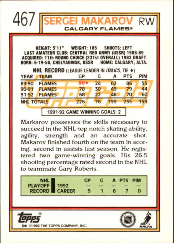 1992-93-Topps-Gold-Inserts-Hockey-s-401-529-A3554-You-Pick-10-FREE-SHIP miniature 99